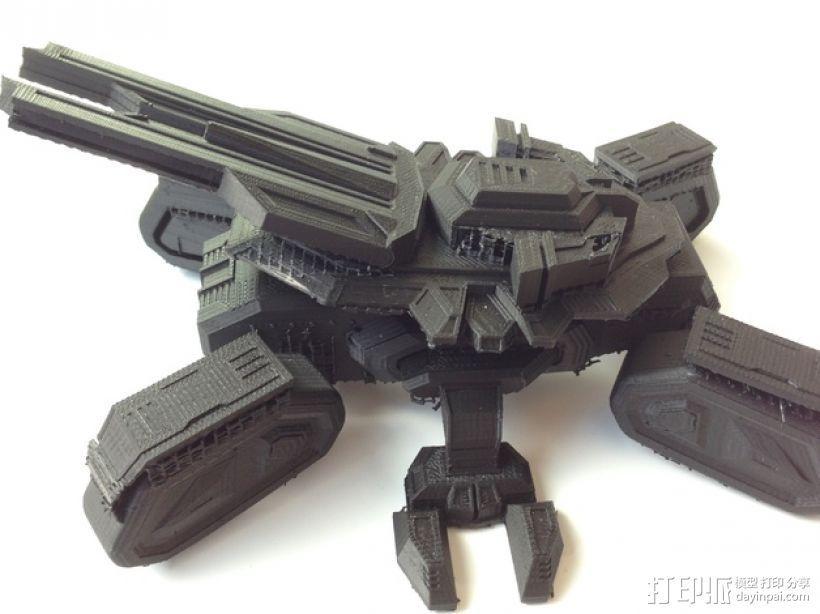 星际坦克 3D打印模型渲染图