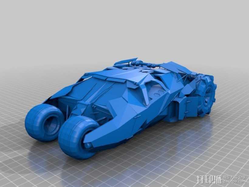 The Dark Knight战车 3D打印模型渲染图