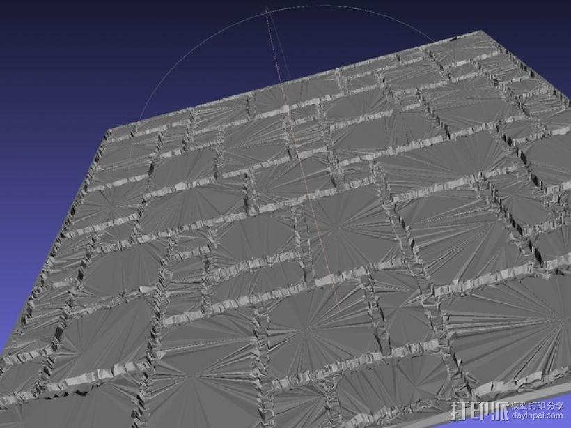 拼接石板 3D打印模型渲染图