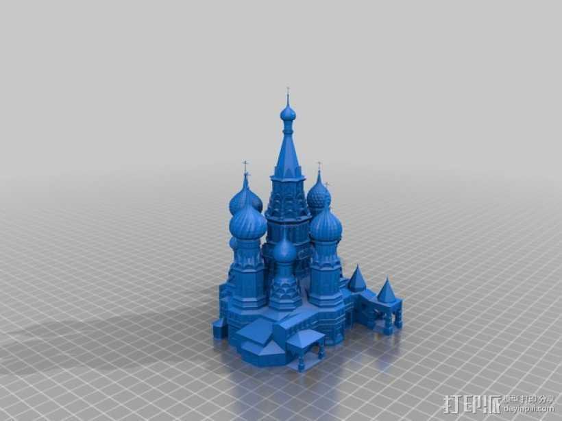 圣巴索大教堂 3D打印模型渲染图