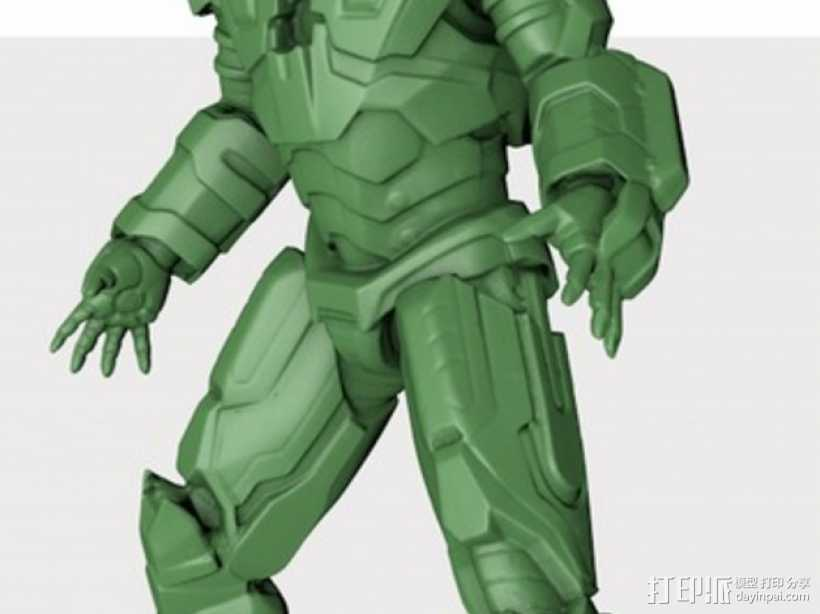 战争机器 机器人 3D打印模型渲染图