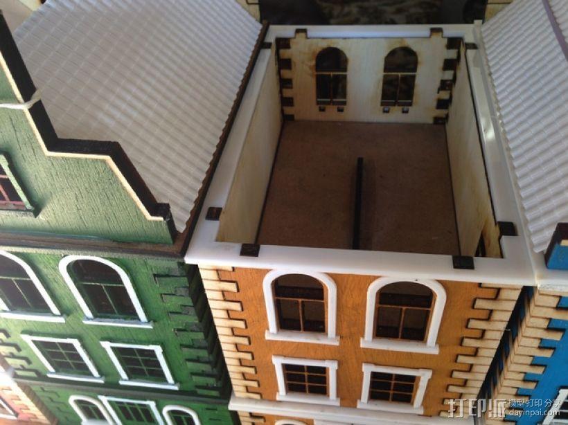 乡间别墅 3D打印模型渲染图