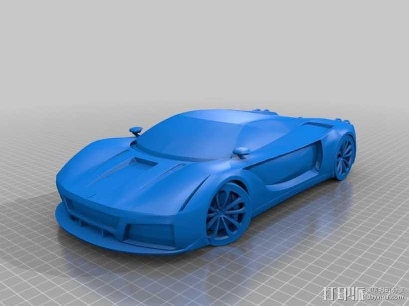 法拉利汽车 3D打印模型渲染图