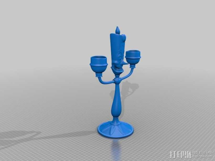 Lumiere蜡烛人 3D打印模型渲染图