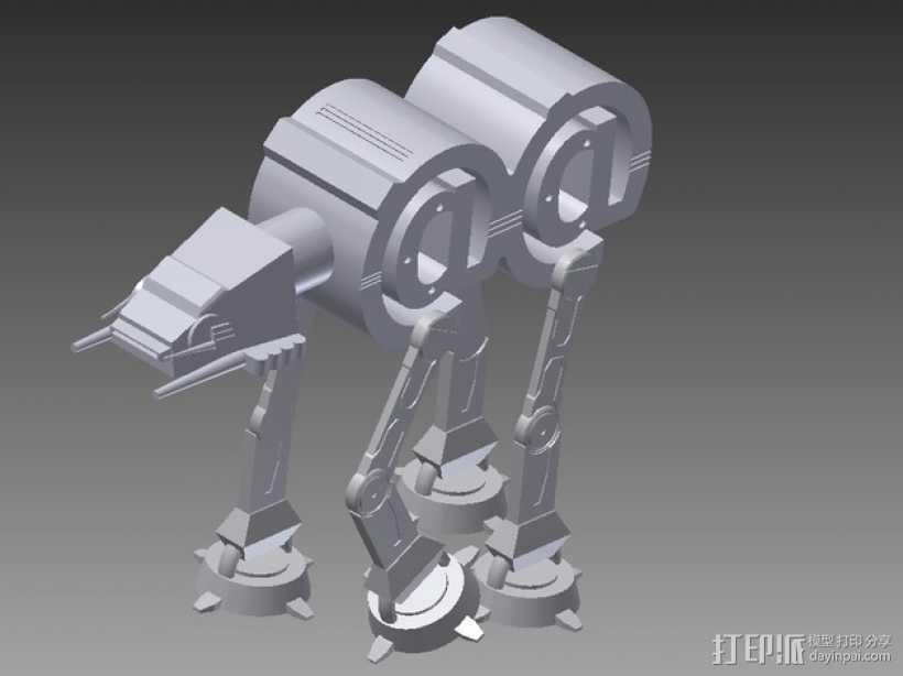 AT-AT步行机 3D打印模型渲染图