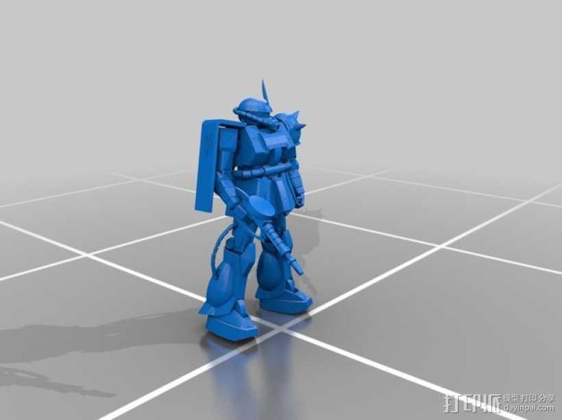 机动战士扎古 3D打印模型渲染图