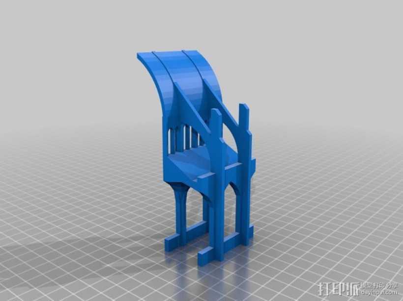哥特式教堂 3D打印模型渲染图