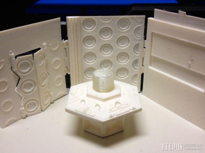 塔迪斯时光机器 3D打印模型渲染图