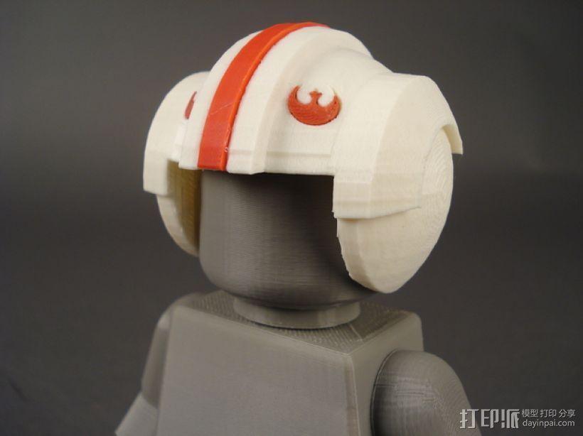 叛军飞行员头盔 3D打印模型渲染图