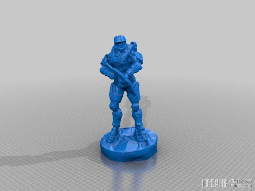 士长官 光晕 3D打印模型渲染图