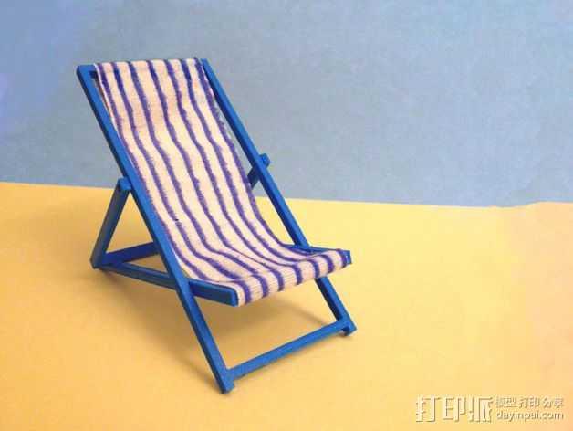 折叠躺椅 3D打印模型渲染图