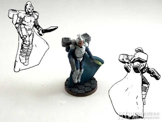 武装人员模型 3D打印模型渲染图