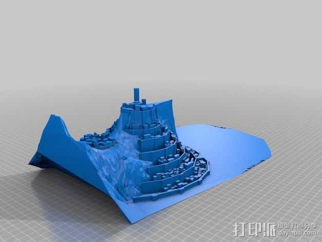 Minas僵尸乐园  3D打印模型渲染图