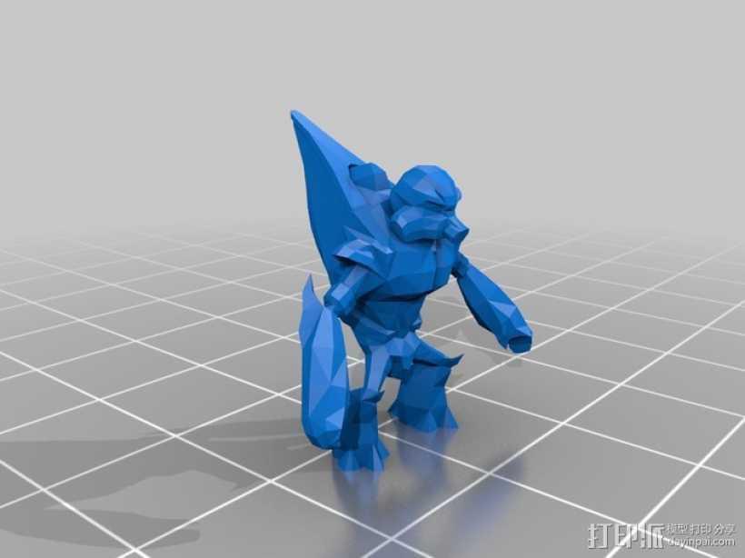 咕噜人 3D打印模型渲染图