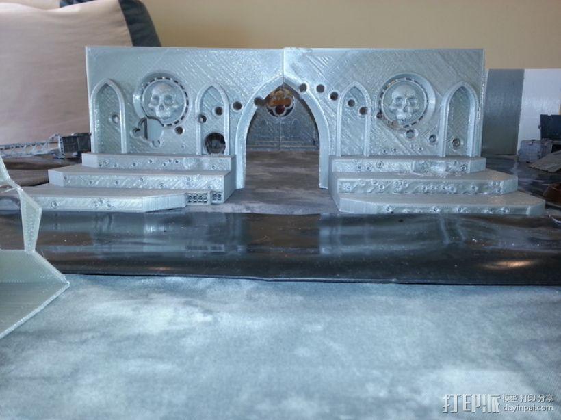 教堂废墟模型 3D打印模型渲染图