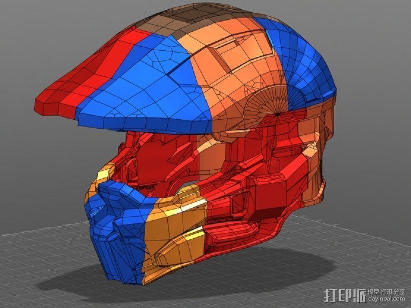 光晕4 头盔 3D打印模型渲染图