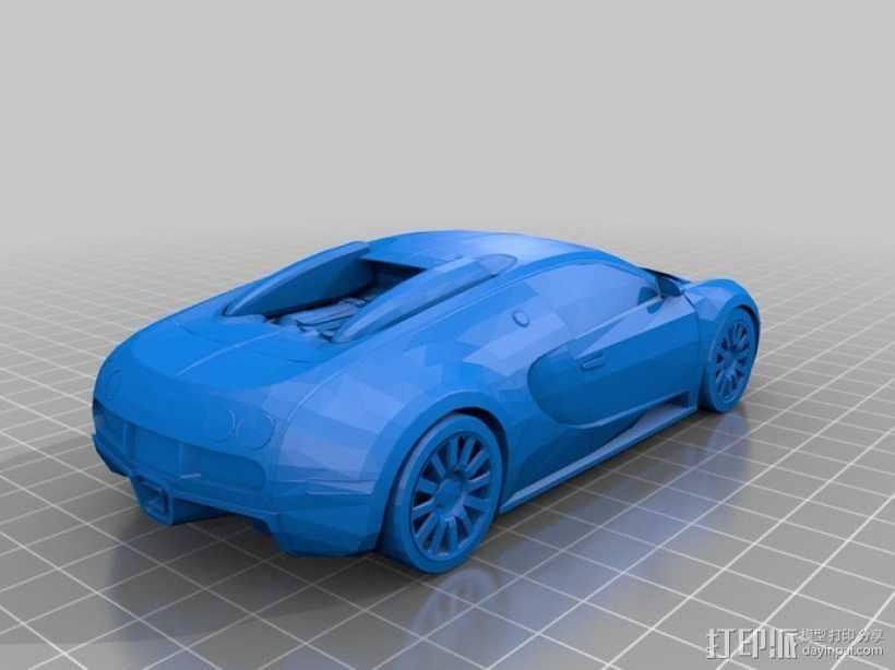 布加迪汽车模型 3D打印模型渲染图