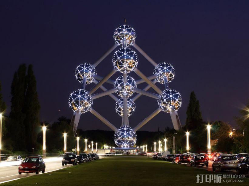布鲁塞尔原子塔 3D打印模型渲染图