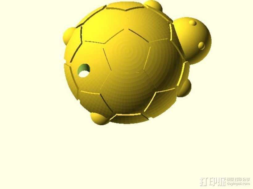 乌龟钥匙扣  3D打印模型渲染图