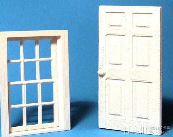 窗户和门 3D打印模型渲染图