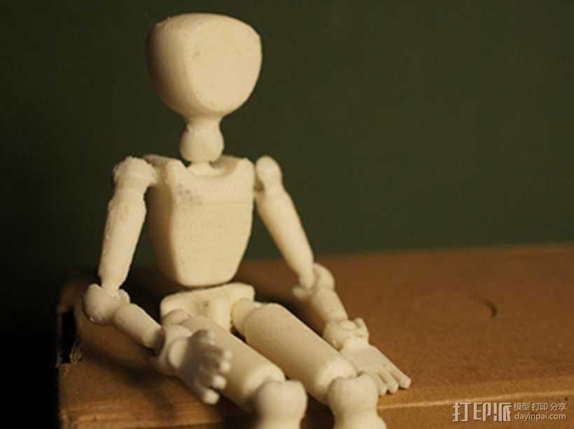 人体模型 3D打印模型渲染图
