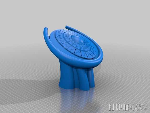DHD拨号装置 3D打印模型渲染图
