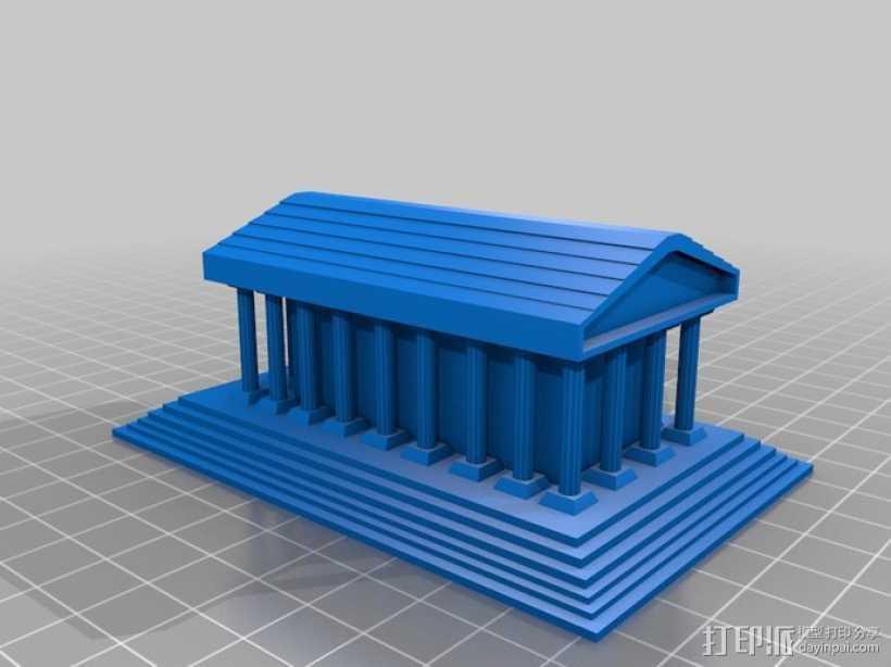 希腊神庙 3D打印模型渲染图