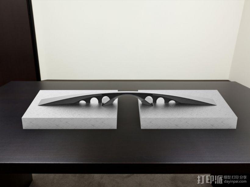 金角湾大桥 3D打印模型渲染图