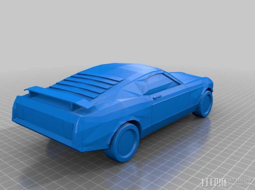 福特Mustang汽车 3D打印模型渲染图