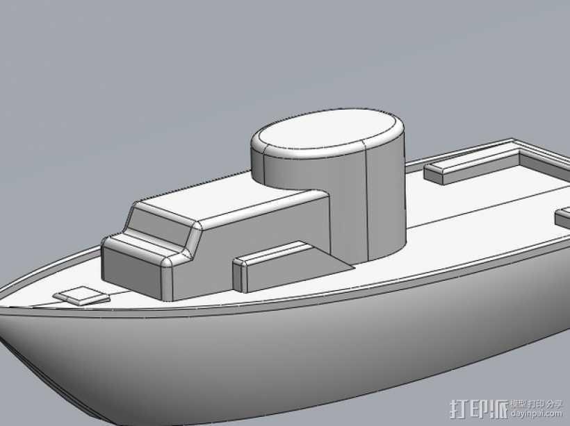 玩具船 3D打印模型渲染图
