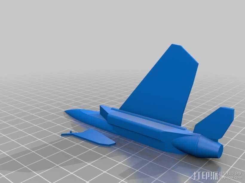 F-15喷射式战斗机 3D打印模型渲染图
