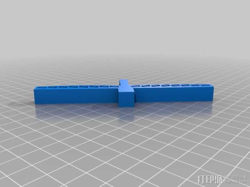 悬索桥模型 3D打印模型渲染图