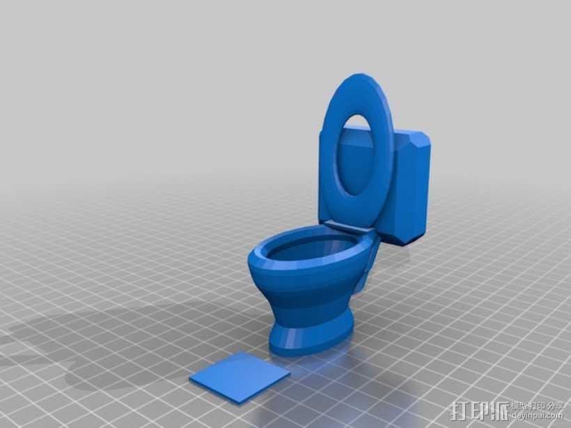 马桶  3D打印模型渲染图