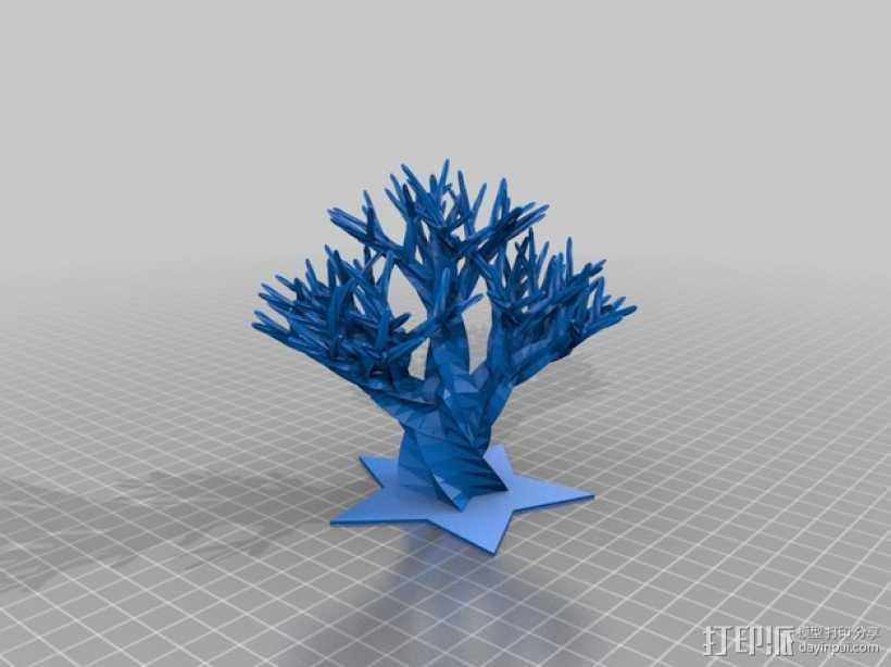 巨大的柳树 3D打印模型渲染图