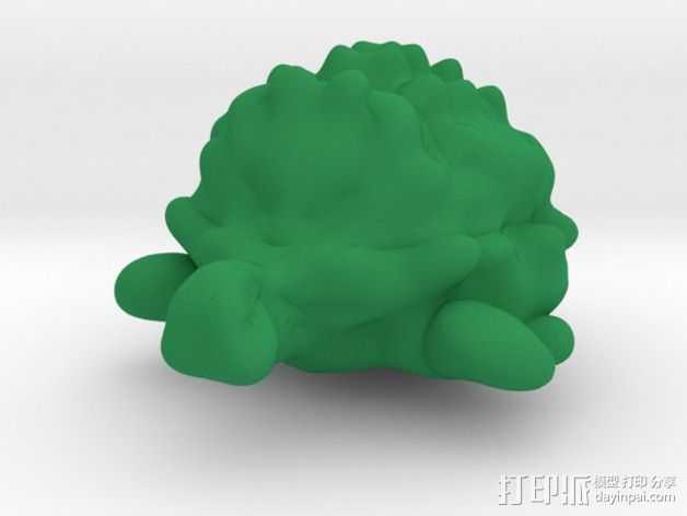 海龟 3D打印模型渲染图
