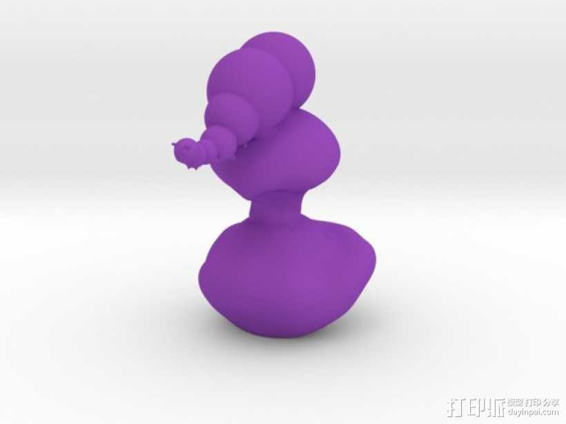 毛毛虫 3D打印模型渲染图