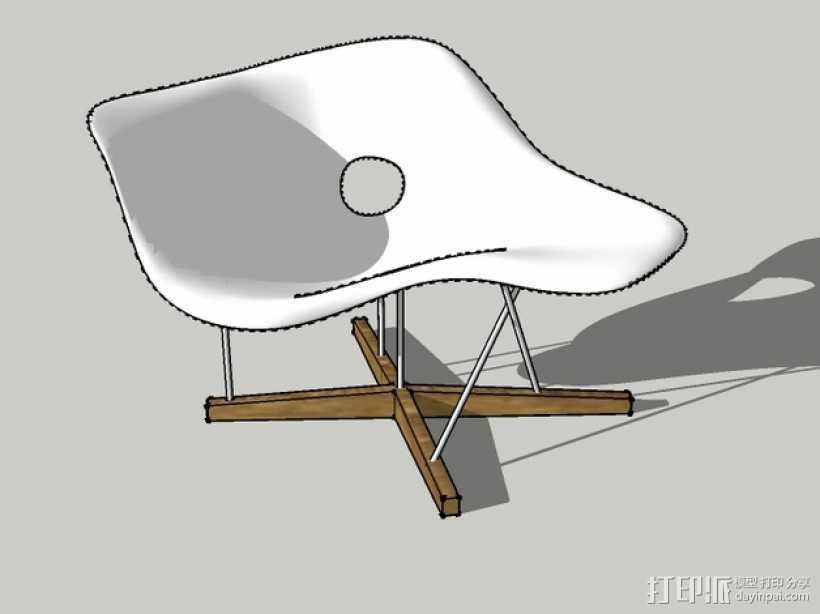 贵妃椅 3D打印模型渲染图