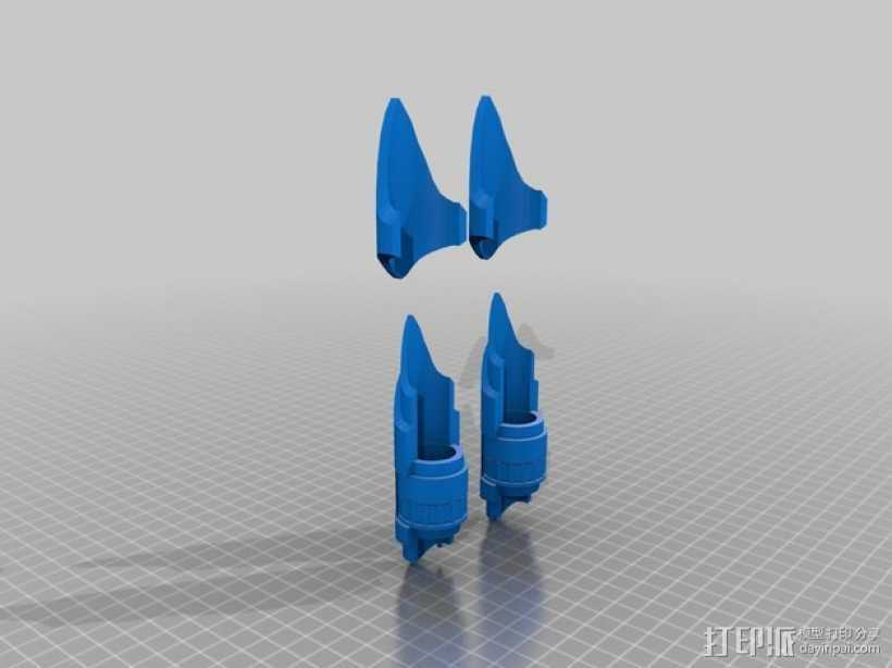 RWBY 护臂 3D打印模型渲染图