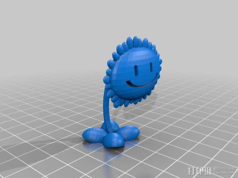 太阳花  3D打印模型渲染图