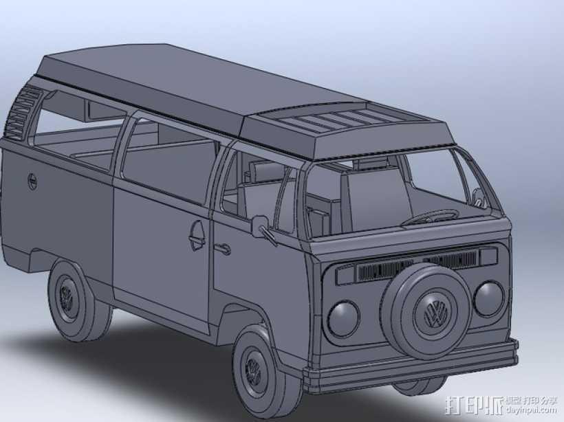 露营车 巴士 3D打印模型渲染图