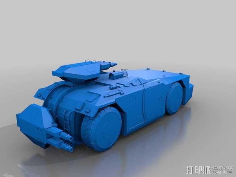装甲运兵车 坦克 3D打印模型渲染图