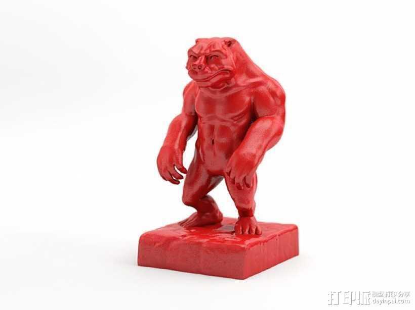 牛魔王 3D打印模型渲染图