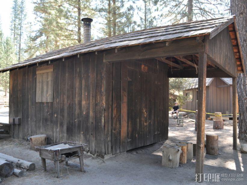 Yosemite铁匠铺  3D打印模型渲染图