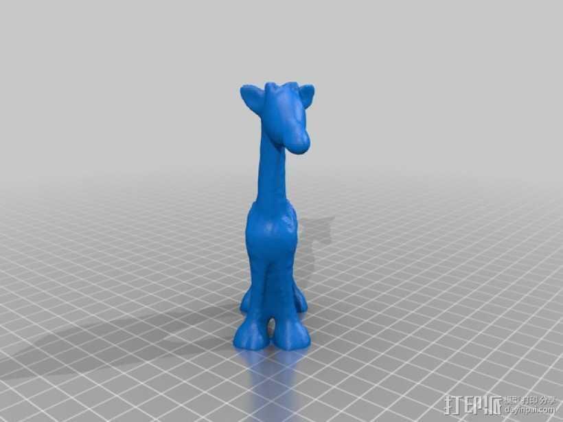 长颈鹿 3D打印模型渲染图