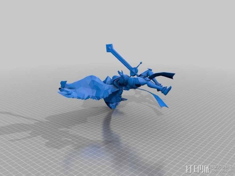 大天使长模型 3D打印模型渲染图
