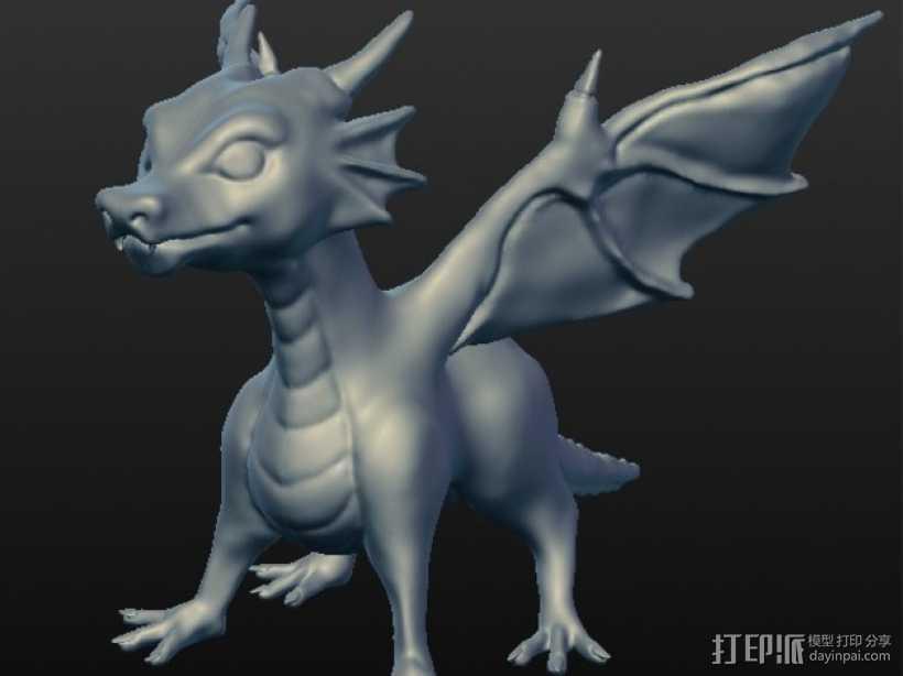 龙宝宝模型 3D打印模型渲染图