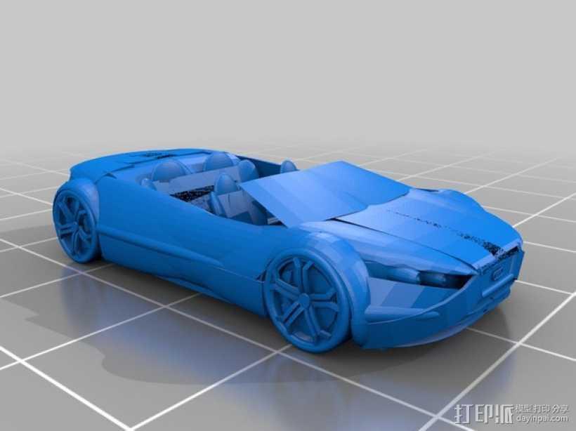 奥迪轿跑 3D打印模型渲染图