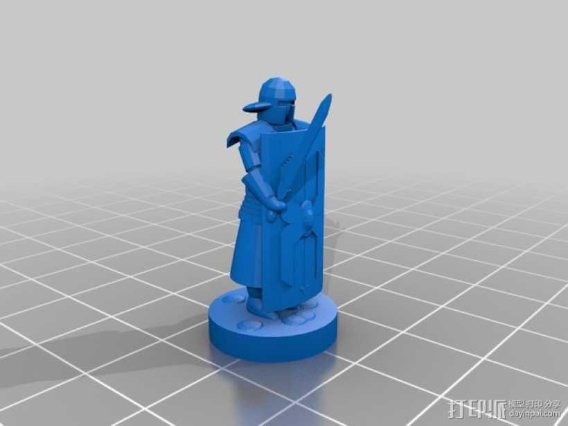 罗马士兵 3D打印模型渲染图