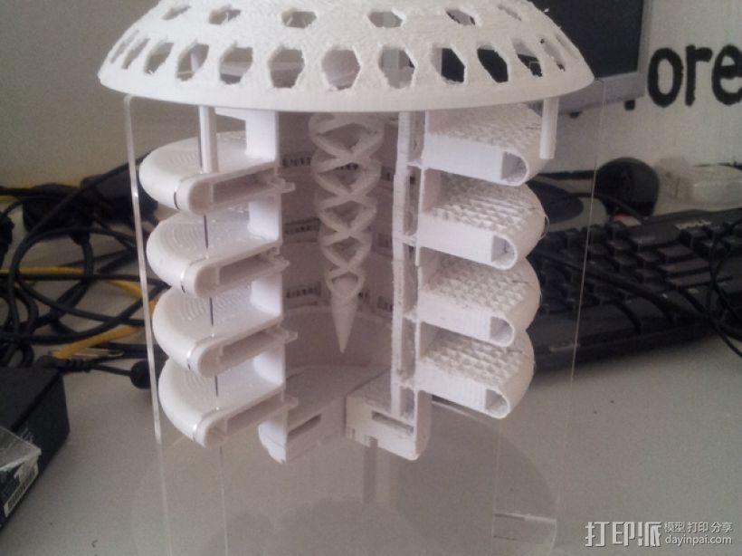 火星栖息地 3D打印模型渲染图