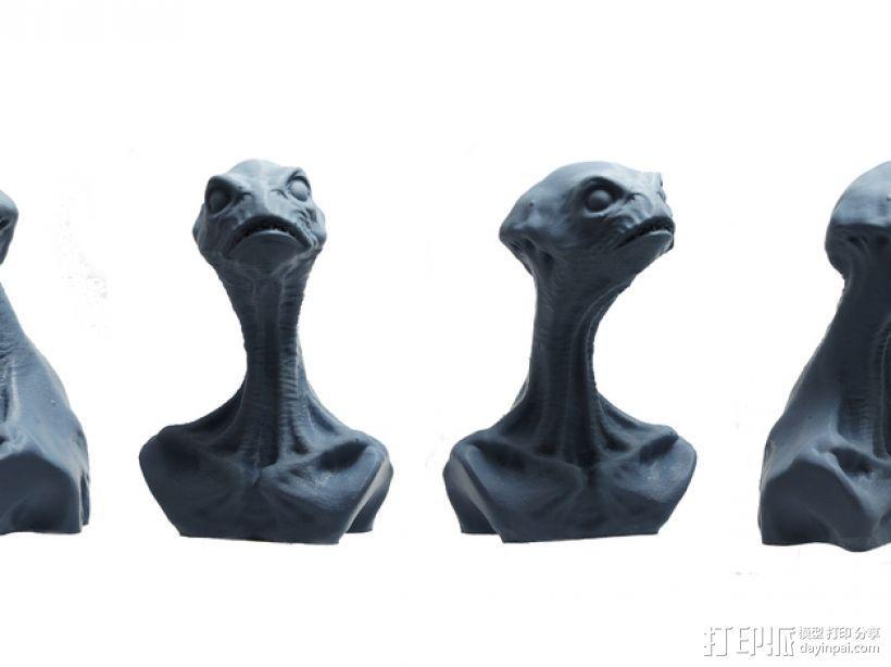 死神蘑菇外星人 3D打印模型渲染图